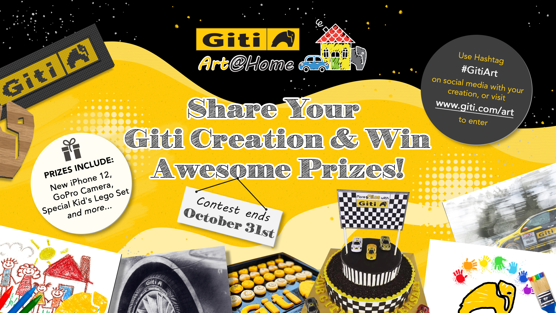 Giti Tire Celebrates October Anniversary Month with 'Giti Art@Home' Contest